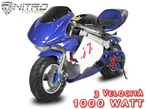 1172009 ECO MINIMOTO MINI MOTO ELETTRICA 1000W